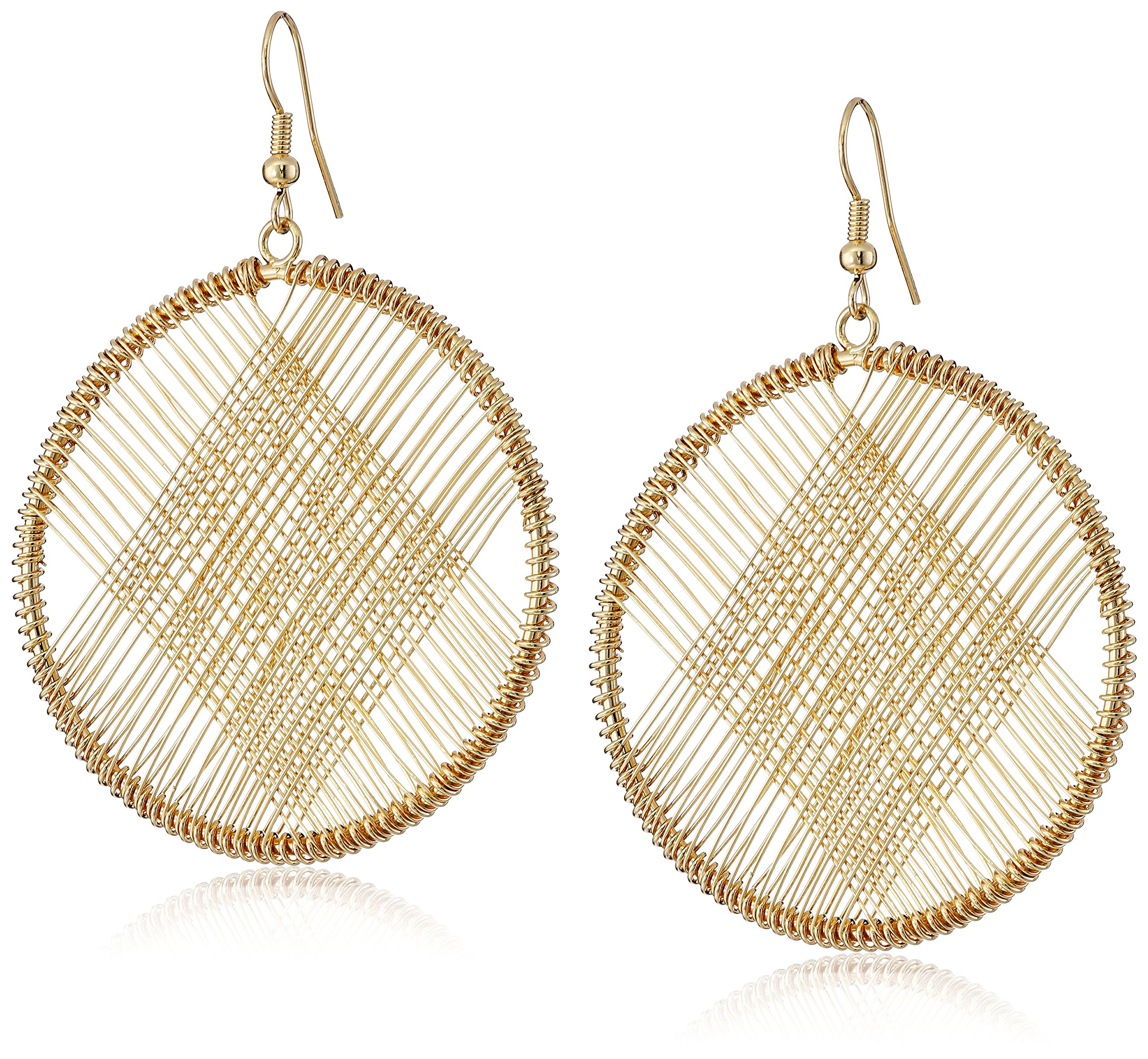 Kenneth Jay Lane Gold Circle Wire Earrings by Kenneth Jay Lane (Image #1)