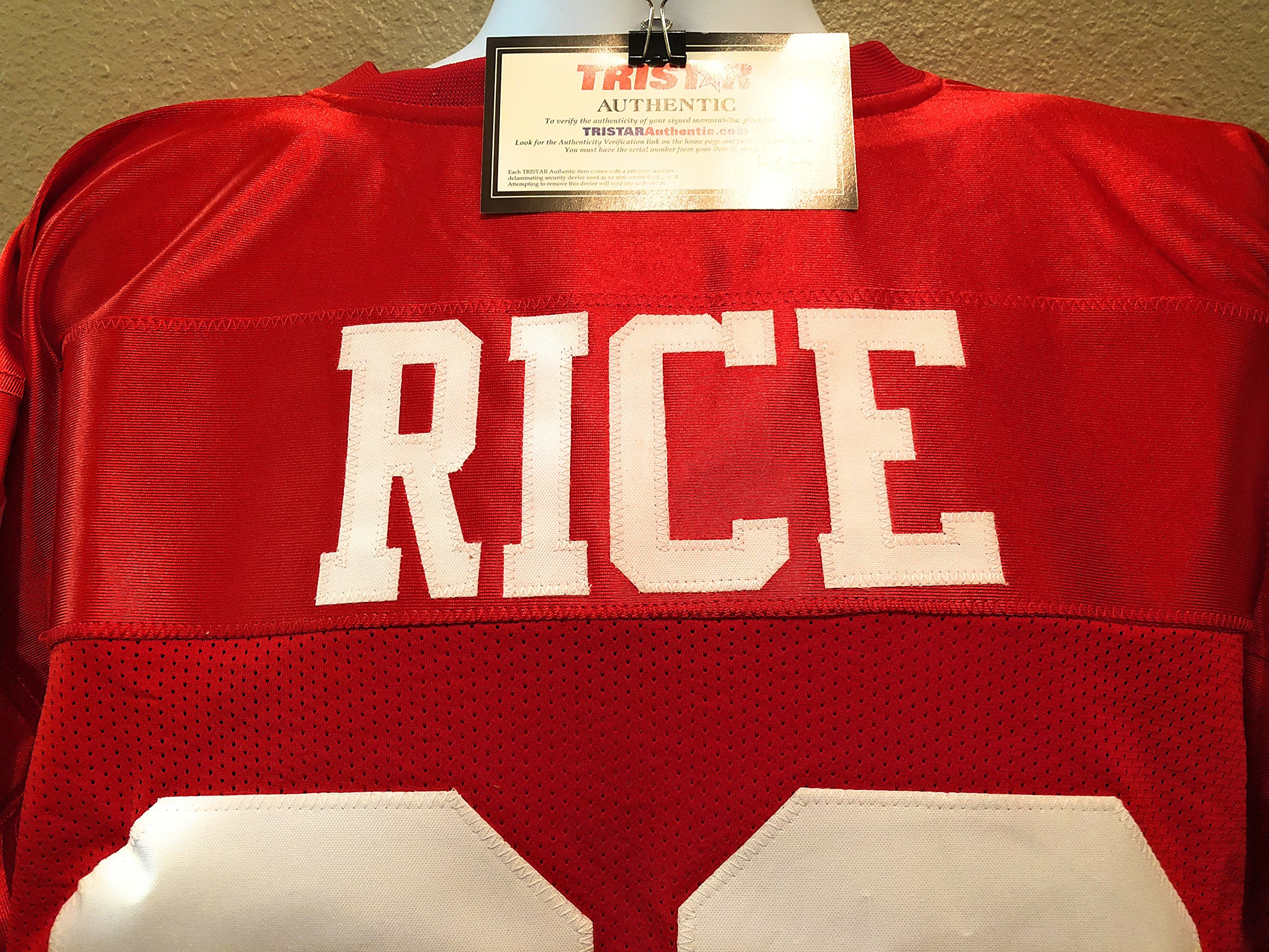 Jerry Rice San Fransico 49ers Signed Autograph Custom Jersey Tristar Authentic Certified