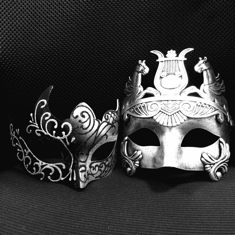 Masquerade Ball Prom Decorations: Venetian Couple Masks Masquerade Party Ball Prom Mardi