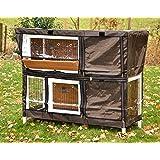nanook Housse de protection pour clapier cage lapin Bommel Taille 123 x 51 x 91 cm couleur marron noir