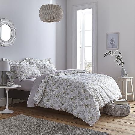 Bianca Honesty Funda nórdica, 100% algodón, Gris, 260x240+50x110(2 ...