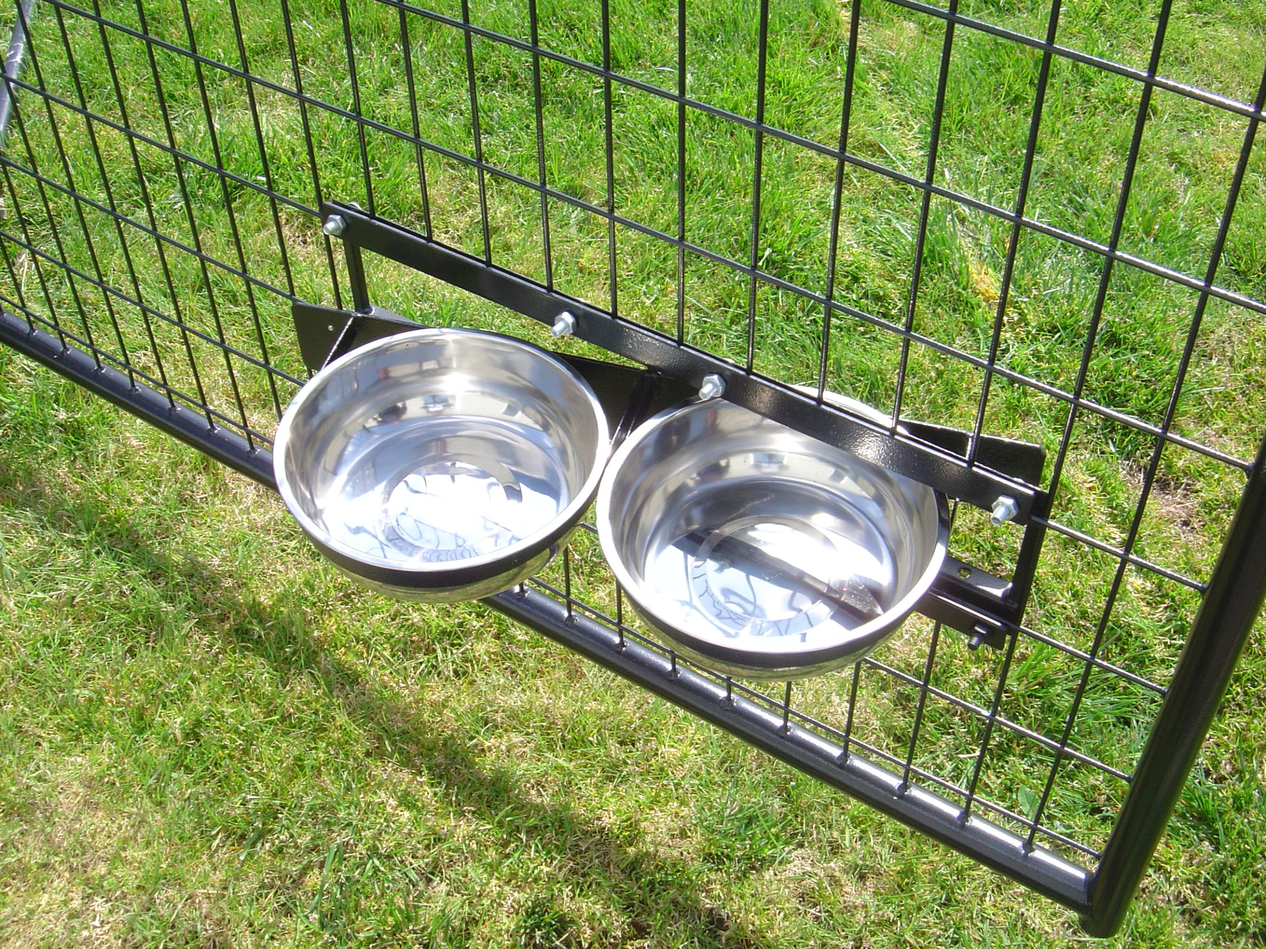 Lucky Dog Stainless Steel Double Rotating Food & Water Pet Bowls (21in. x 8in. X 5in.) by Lucky Dog