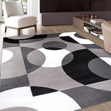 Rugshop Modern Circles Area Rug, 5' 3  x 7' 3 , Gray