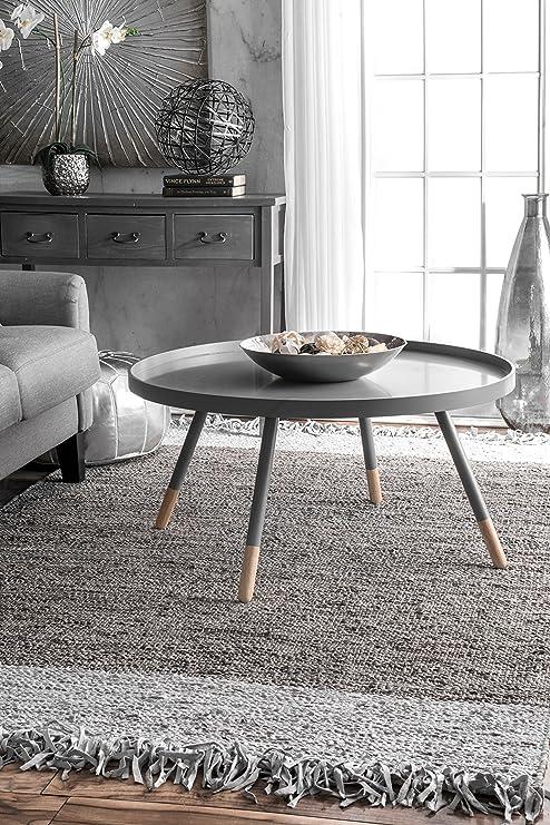 Amazon Com Nuloom Hayworth Contemporary Area Rug 7 6 X 9 6 Grey Furniture Decor