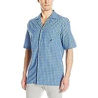 Nautica Men s Short Sleeve Cotton Button Down Woven Pajama Top f95b80764