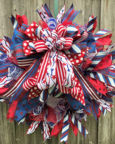 US Army Wreath for front door with deco mesh /& ribbon 22