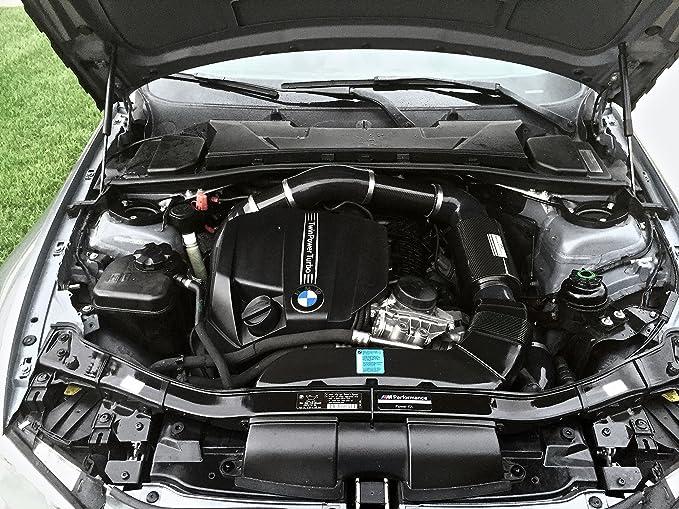 mDesign rendimiento 738417318202 carbono frío toma de aire para 2011 - 13 BMW 135i E82/88, 335I/XI E90/91/92/93 3.0L I6 N55, 1 Pack: Amazon.es: Coche y moto
