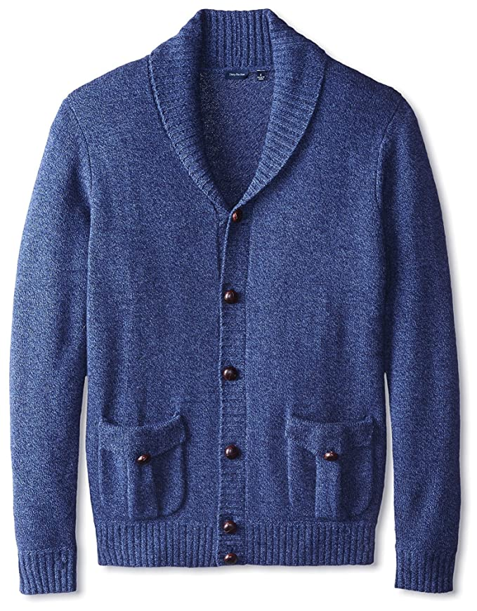 Men's Vintage Style Sweaters – 1920s to 1960s Thirty Five Kent Mens Cashmere Marled Button Shawl Collar Cardigan Sweater $149.00 AT vintagedancer.com