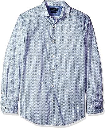 ORIGINAL PENGUIN Camisa de Vestir para Hombre con Cuello extendido - Azul - 44 cm Cuello 86 cm- 89 cm Manga: Amazon.es: Ropa y accesorios