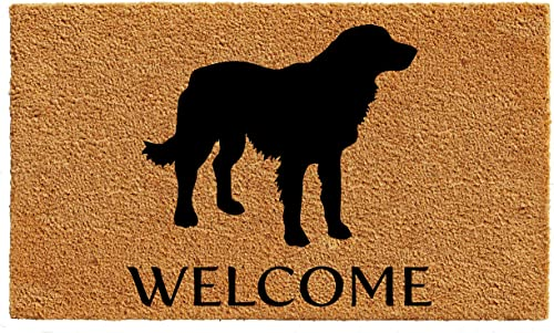 Calloway Mills AZ105522436 Golden Retriever Doormat, 24 x 36 , Natural Black