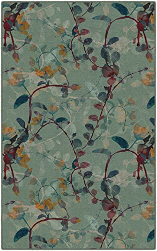 Brumlow Mills Catalina In Green Floral Area Rug, 5 x 8