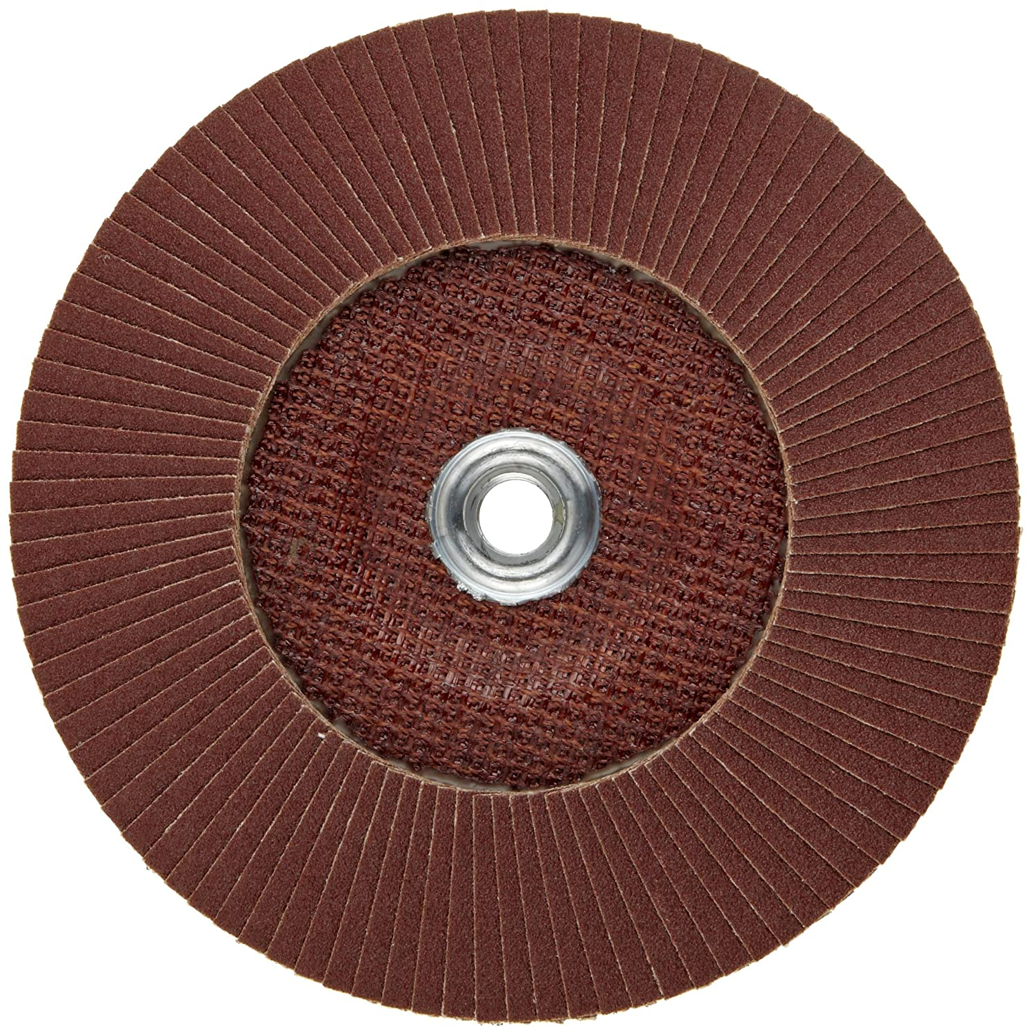 Type 27 7 Dia. Threaded Hole Pack of 1 60 Grit PFERD Polifan PSF Abrasive Flap Disc Phenolic Resin Backing Aluminum Oxide
