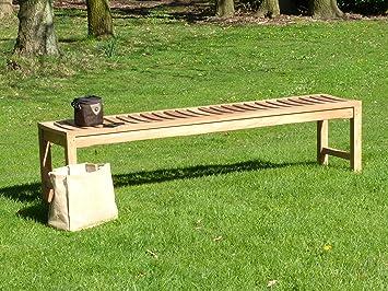 Super Backless Teak Wooden Garden Bench Solid Outdoor Sports Club Machost Co Dining Chair Design Ideas Machostcouk