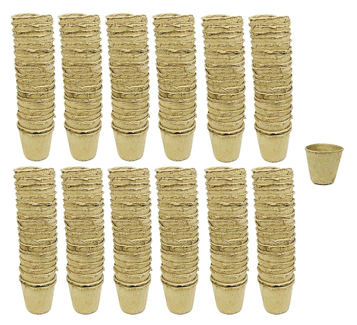 Set of 192 Biodegradable Eco Friendly Peat Pots 3.125 Diameter x 3 – Recycled Non Bleached Peat Pots Perfect for Seed Germination No Transplanting Required – No More Damaged Roots