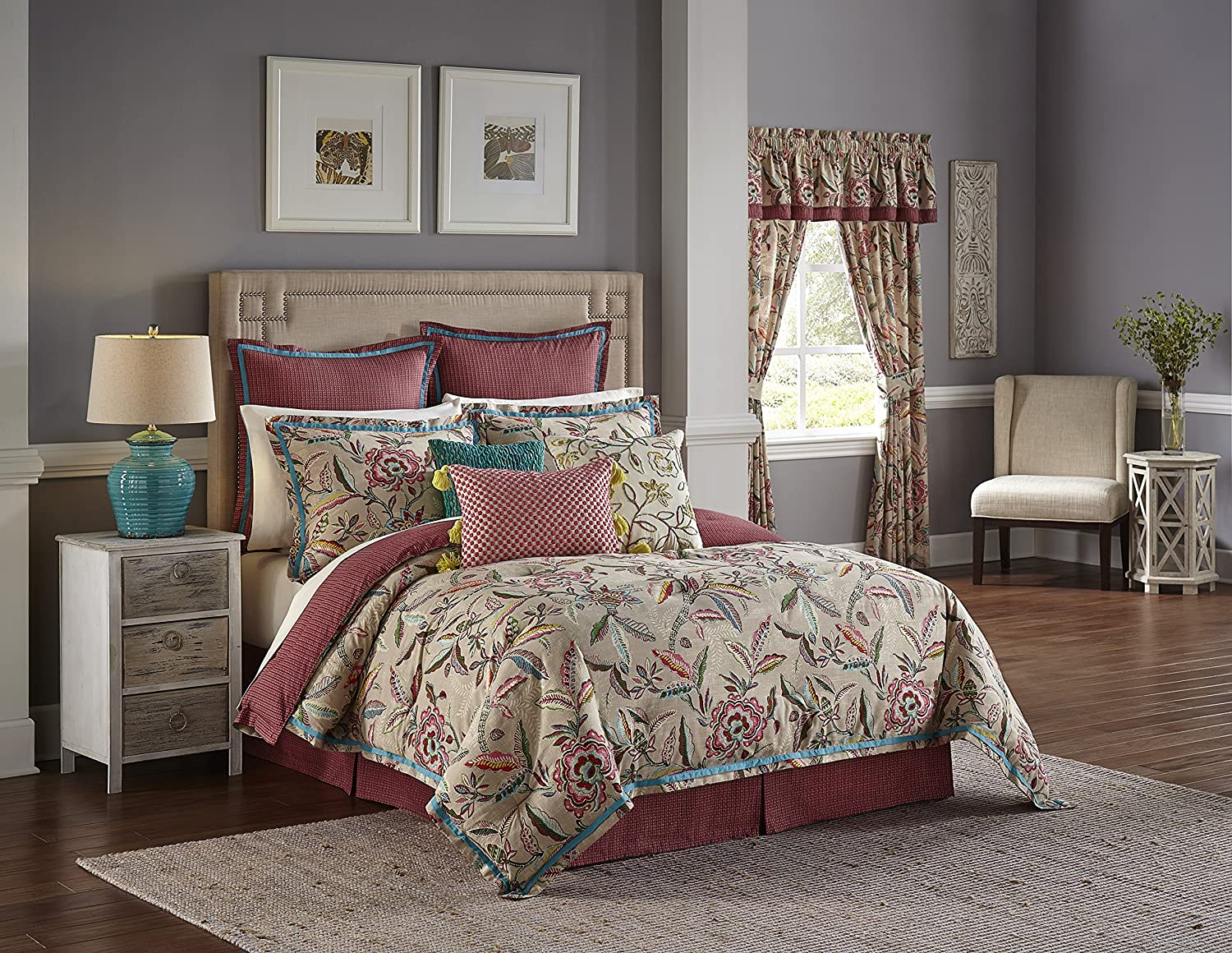 WAVERLY 16896BEDDKNGJBL Key of Life Reversible Comforter Collection King Jubilee Ellery Homestyles