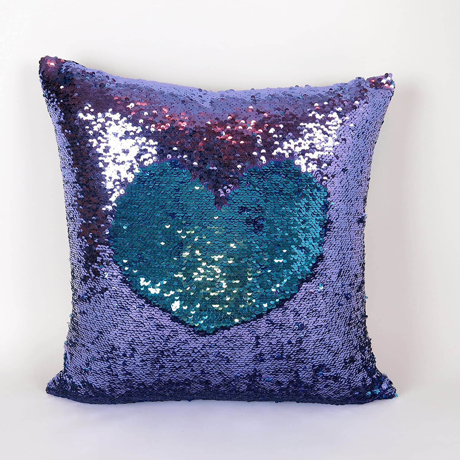 Amazon.com: Mermaid Pillow Cover - Purple and Turquoise Reversible ...