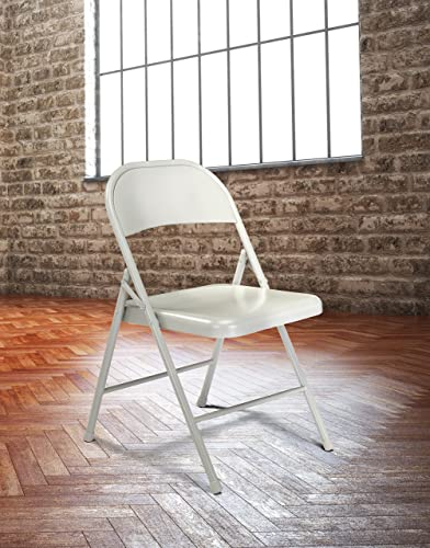 Pack of 4 Commercialine All-Steel Folding Chair, Grey