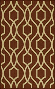 Maples Rugs 2'6 x 3'10 Non Skid Hallway Entry Rugs Accents [Made in USA] for Kitchen and Entryway, Auburn