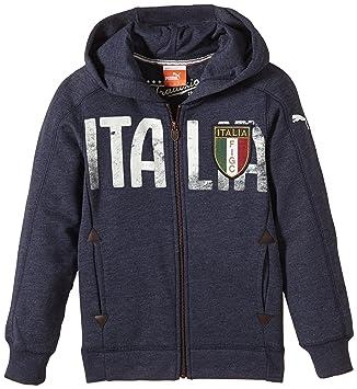 Puma FIGC Italia Azzurri - Sudadera (Cremallera Total), diseño de la selección Italiana: Amazon.es: Deportes y aire libre