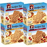 Quaker Breakfast Flats, Variety Pack, Breakfast Bars, 5 Count,  Net Weight. 7 Ounce (Pack of 4)
