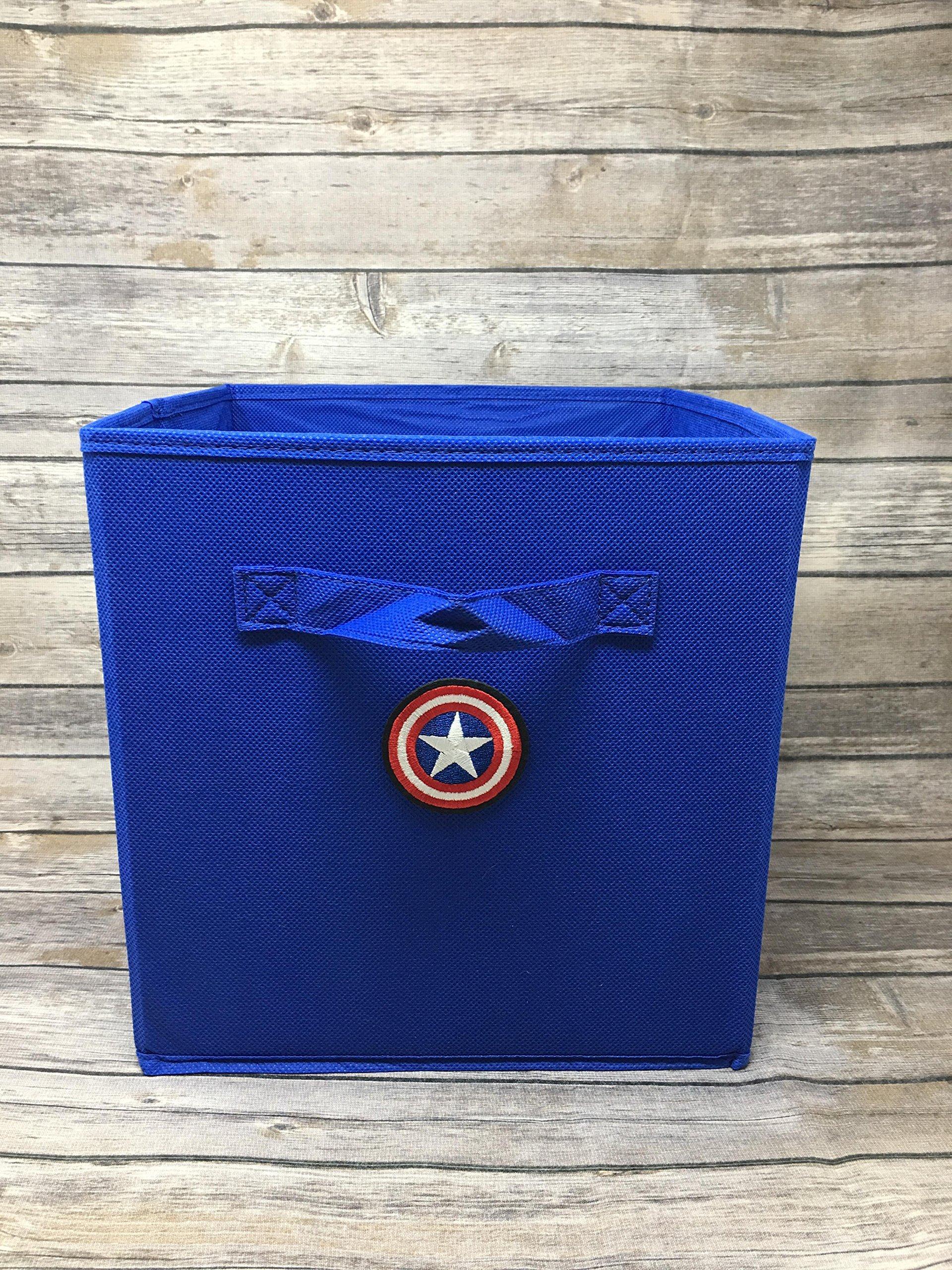 Captain America Logo Foldable Storage Cube Basket Bins Organizer,storage bins