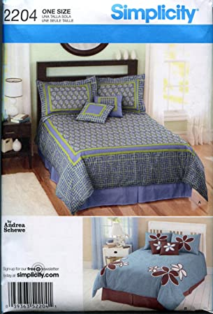 Amazon.com: Simplicity Sewing Pattern 2204 Bedroom Accessories ...