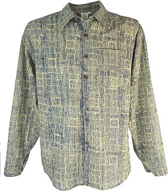 GURU-SHOP, Goa Hippie, Camisa de Hombre, Gris, Algodón, Tamaño:XL, Camisas de Hombre: Amazon.es: Ropa y accesorios