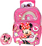 "Christmas Gift for Girls Minnie Mouse 16"" Rolling Backpack Combo Set"