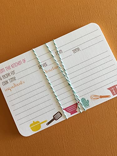 Amazon Com 4x6 Personalized Recipe Cards Set Of 20 As Seen On