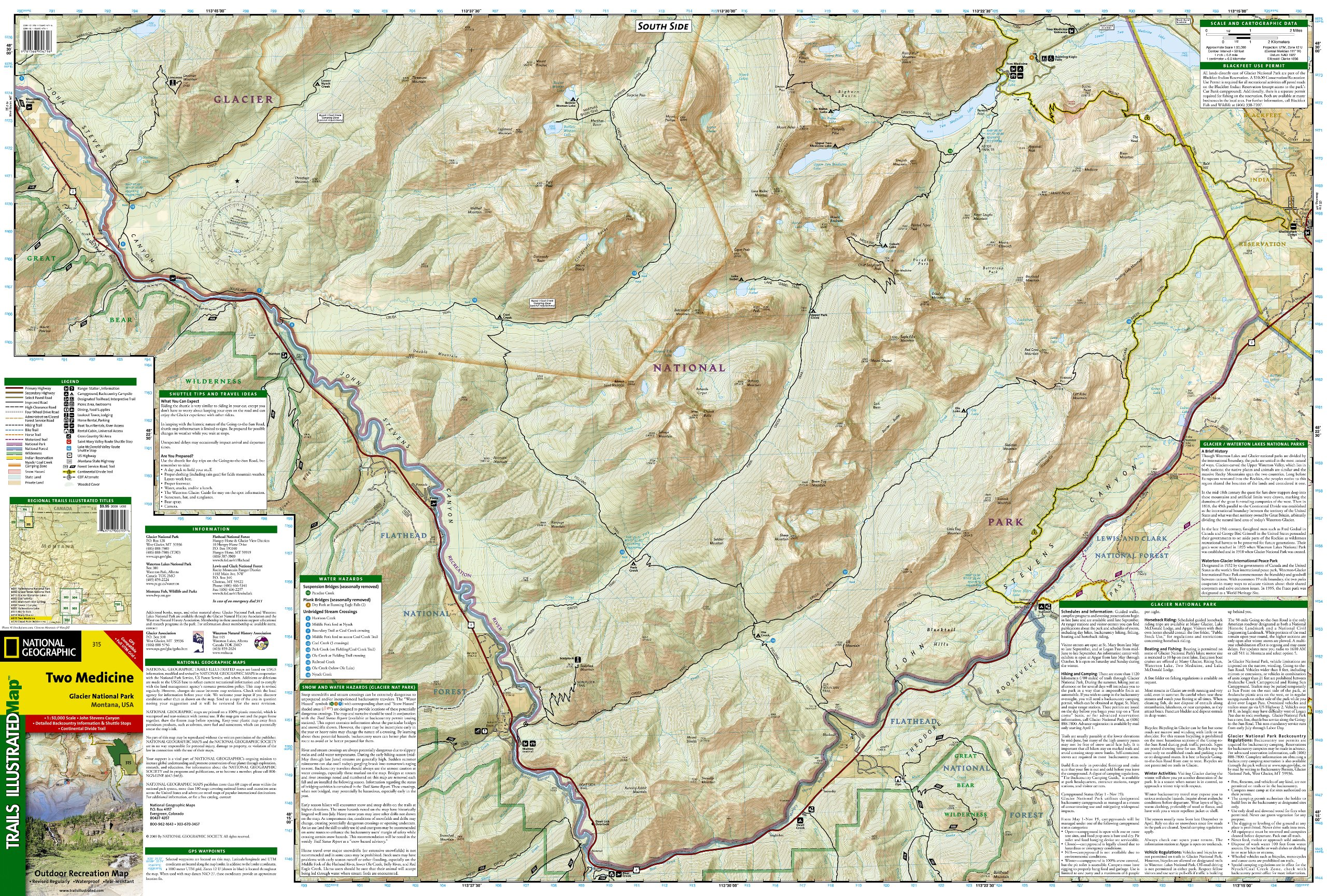 two medicine  glacier national park trails illustrated map   (nationalgeographic maps trails illustrated) national geographic maps  trails . two medicine  glacier national park trails illustrated map