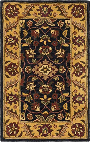 Safavieh Golden Jaipur Collection GJ250D Handmade Black and Gold Premium Wool Area Rug 2 x 3
