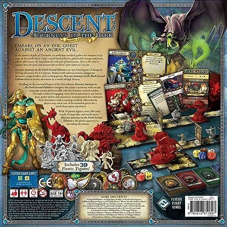 Fantasy Flight Games Descent Journeys in the Dark Second Edition FFGDJ01, Juego de mesa: Amazon.es: Juguetes y juegos
