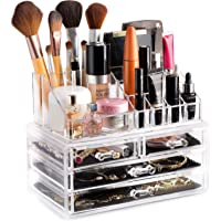 Clear Cosmetic Storage Organizer - Easily Organize your Cosmetics, Jewelry and Hair Accessories. Looks Elegant Sitting…