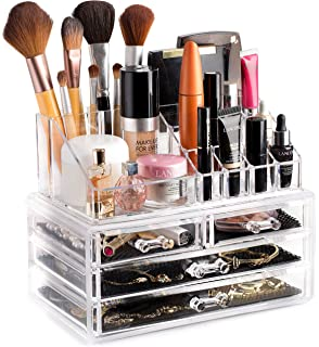 Clear Cosmetic Storage Organizer - Easily Organize Your Cosmetics, Jewelry and Hair Accessories. Looks