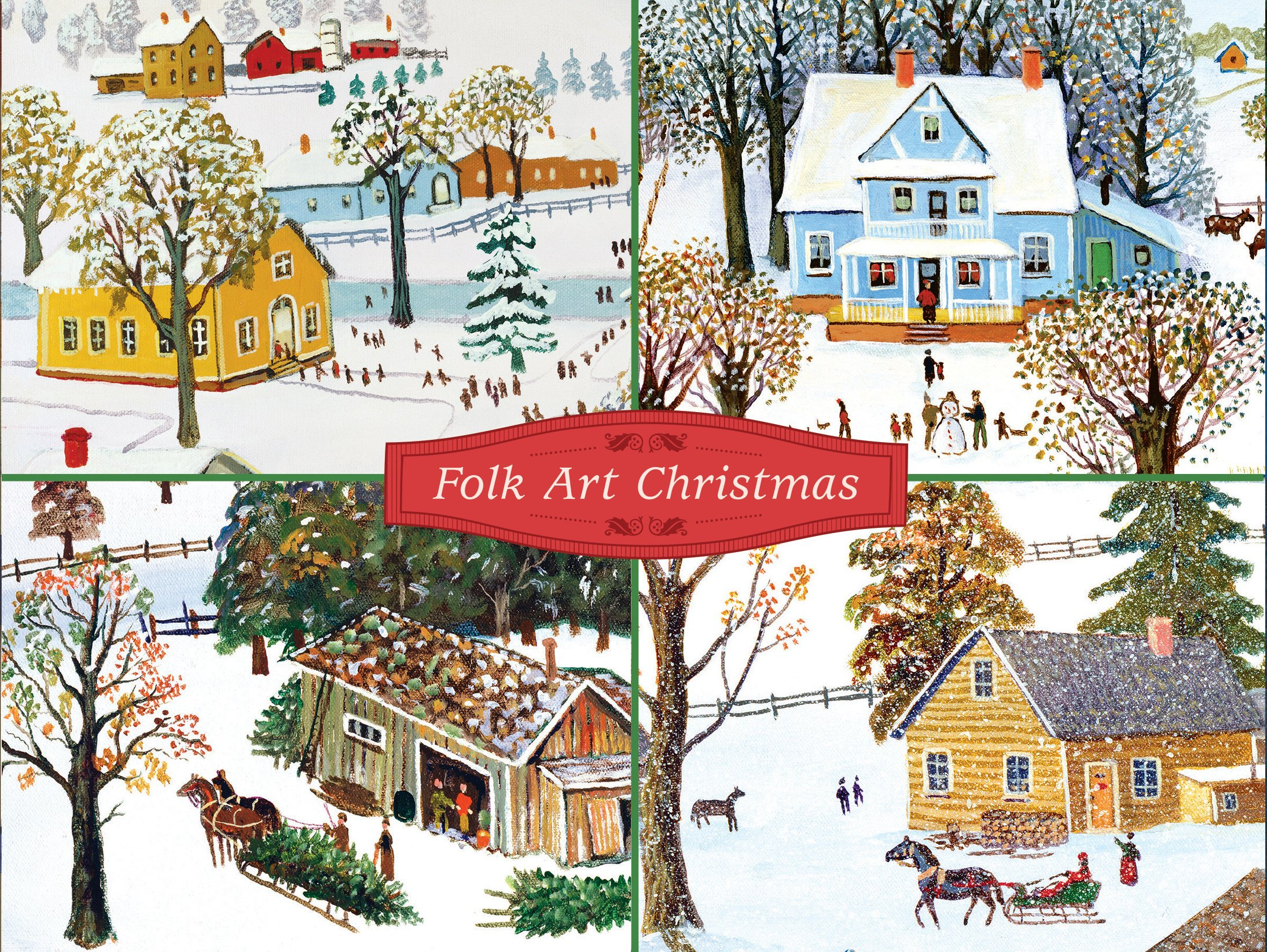 Folk Art Christmas Deluxe Holiday Notecards PDF