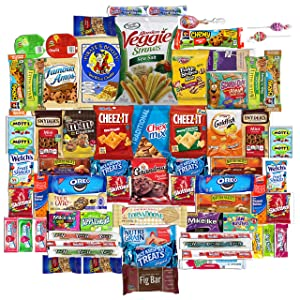Cookies, Chips, Candy (70 Count) Ultimate Variety Sampler Snacks Box / Care Package for Office, Meetings, Schools, Friends and Family, Military, College, Holiday, Work