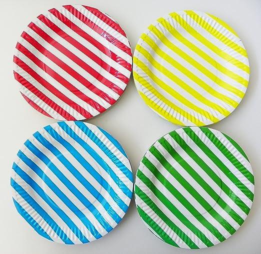 2 opinioni per Realegend cocktail Sticks, Multicolor Stripe, Party Plates