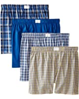 Tommy Hilfiger Men's 4-Pack Blue Yellow Woven Boxer