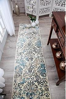 2x8 runner rug. Modern Cream Runner Rug 2x8 Hallway White Blue Brown Beige Rugs 2x7 Entrance Washable S