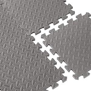 Cap Barbell Equipment Mat 12-Piece Puzzle Mat (12 X 12 X 1/2-Inch)