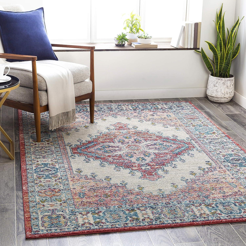 Artistic Weavers Area Rug 6 7 X 9 Blush Navy Furniture Decor Amazon Com