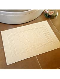 secret sea collection 100 soft cotton super absorbent footprint bath mat towel foot towel