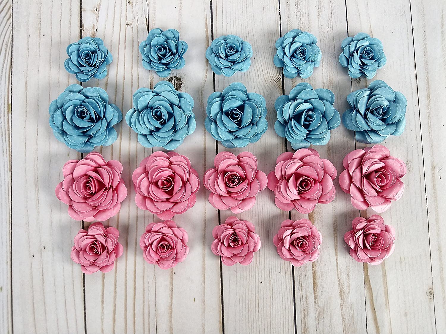 Amazon Com Small Paper Flowers Party Favors Gender Reveal Baby