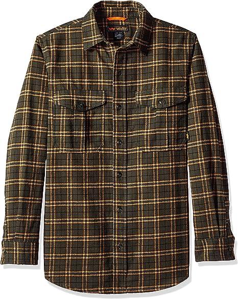 Amazon Com Walls Men S Brahma Long Sleeve Heavyweight Brushed Flannel Shirt Clothing
