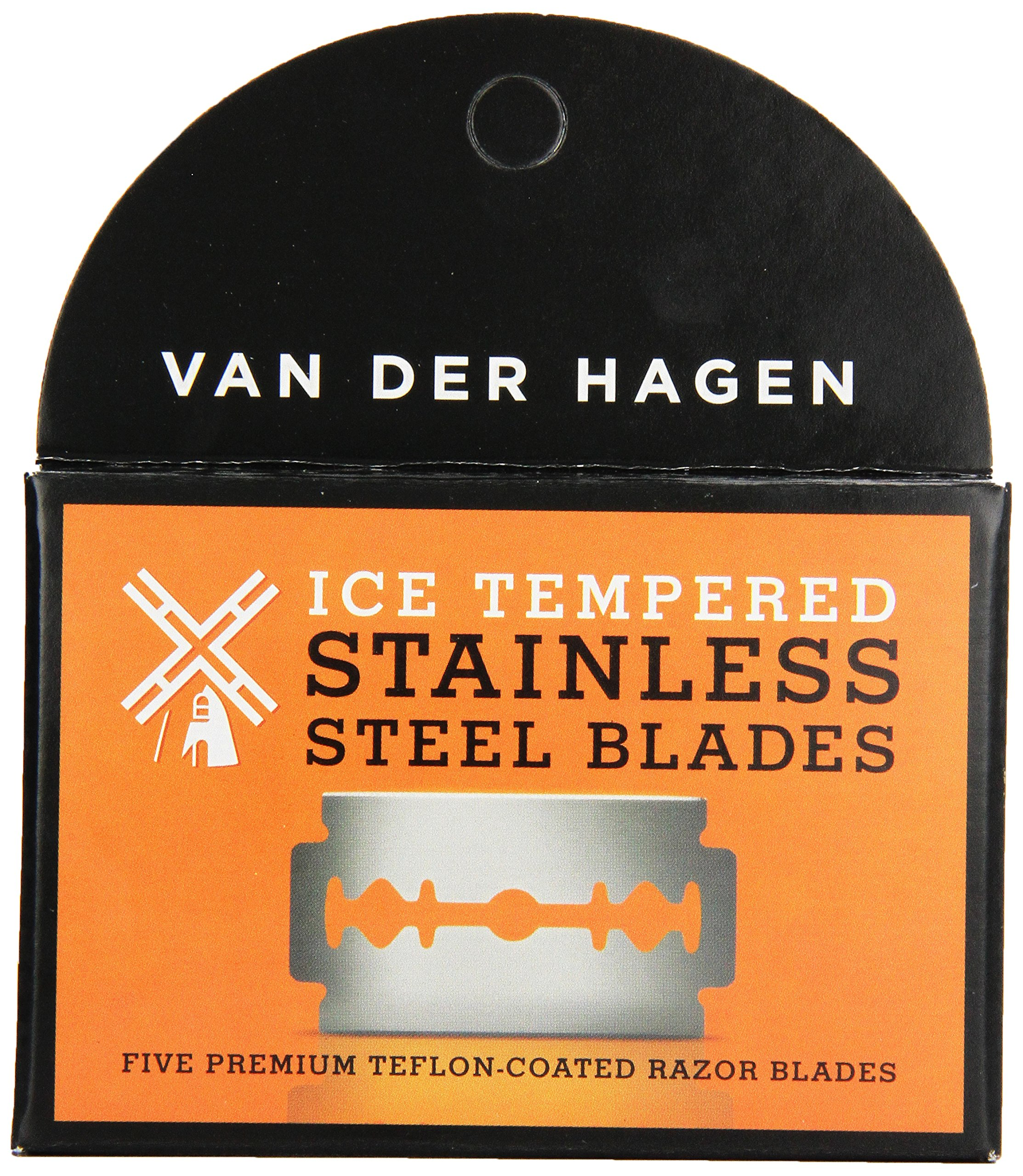 Van Der Hagen Stainless Steel Razor Blades, 5 Count (Pack of 6)