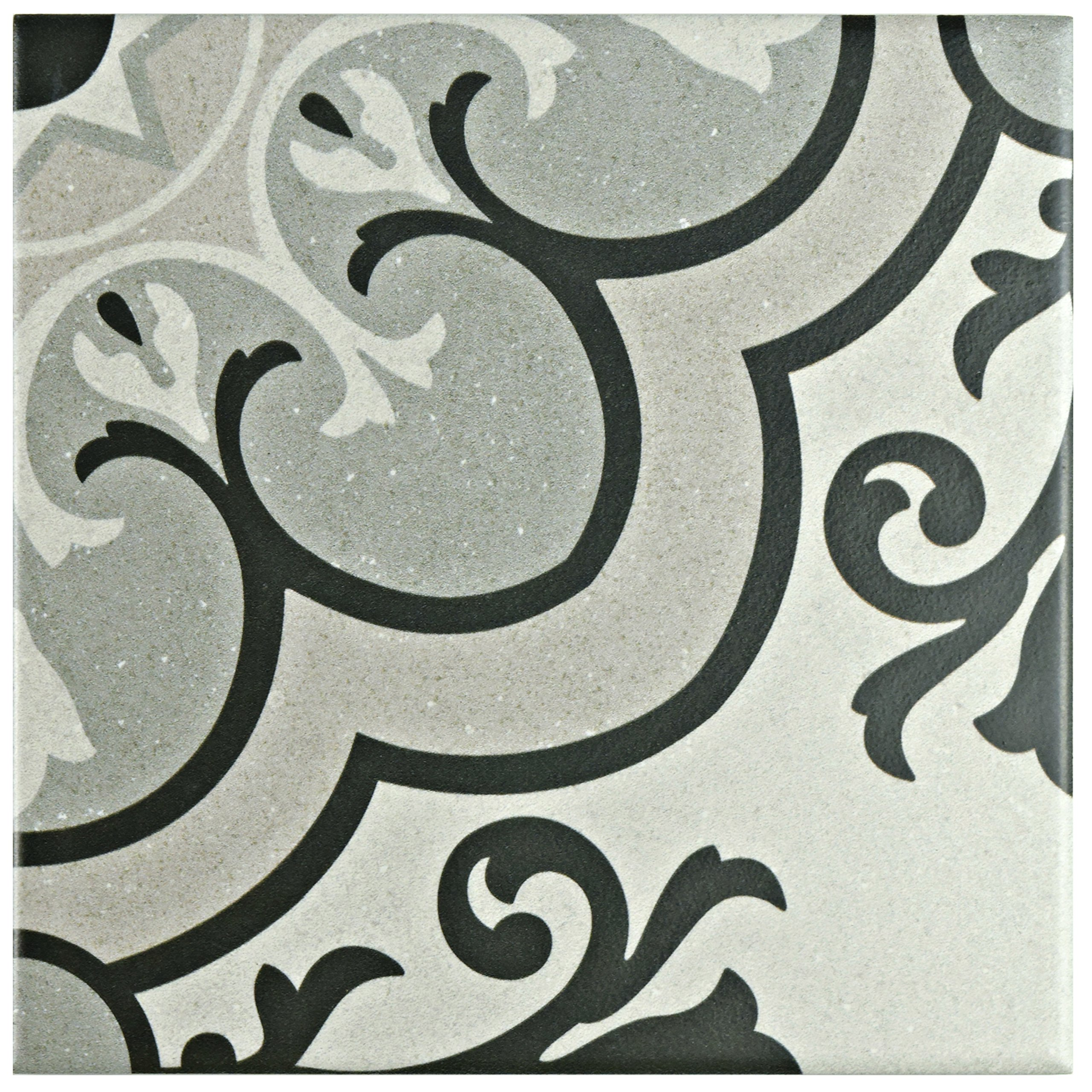 SomerTile FAE6BZS Kallyno Porcelain Floor and Wall Tile, 5.875'' x 5.875'', Solano