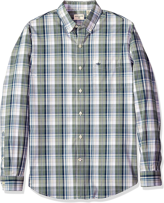 Dockers Long-Sleeve Button Up Shirt Camisa de Vestir para Hombre