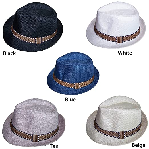 e8f6ebbf3a3 Amazon.com: Fedora Trilby Hats For Kids Boys Hats - Beige Color (FedHatK27  Z): Clothing