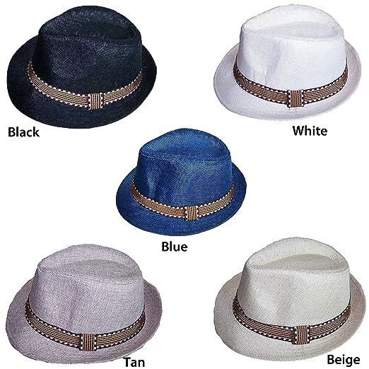 Amazon.com  Fedora Trilby Hats For Kids Boys Hats - Beige Color ... 5f0e484edc4