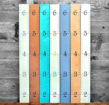 Amazon com growth chart art wooden growth chart ruler for boys